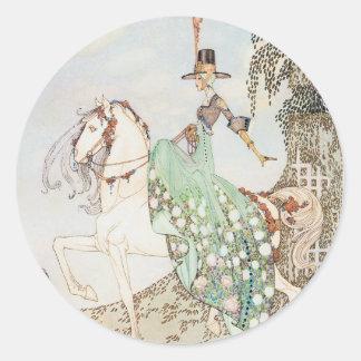 Vintage Fairy Tale, Princess Minette, Kay Nielsen Round Sticker