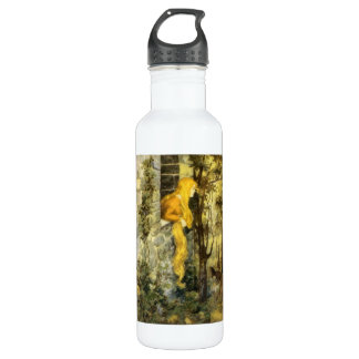 Vintage Fairy Tale, Rapunzel with Long Blonde Hair 710 Ml Water Bottle