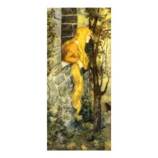 Vintage Fairy Tale, Rapunzel with Long Blonde Hair Customised Rack Card