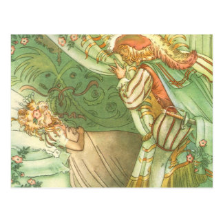 Vintage Fairy Tale, Sleeping Beauty Princess Postcard