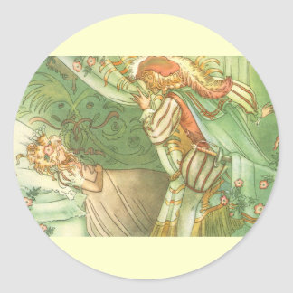 Vintage Fairy Tale, Sleeping Beauty Princess Round Sticker