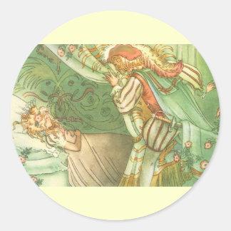Vintage Fairy Tale, Sleeping Beauty Princess Sticker