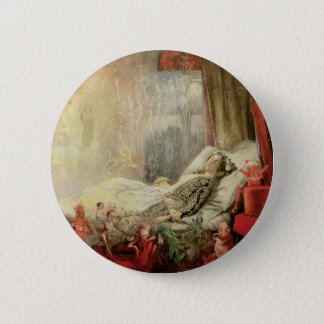 Vintage Fairy Tale, Stuff that Dreams Are Made of 6 Cm Round Badge