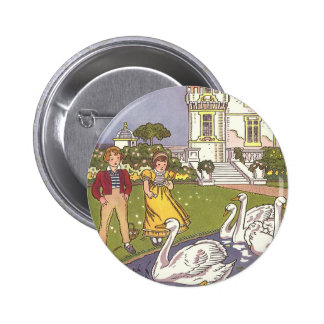 Vintage Fairy Tale, The Ugly Duckling by Hauman 6 Cm Round Badge