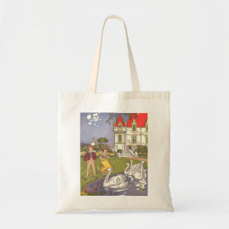 Vintage Fairy Tale, The Ugly Duckling by Hauman Budget Tote Bag