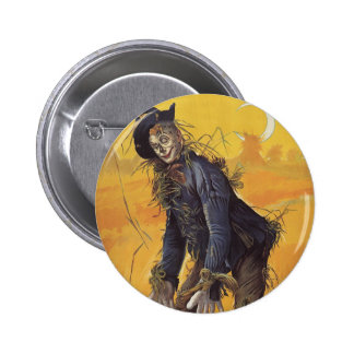 Vintage Fairy Tale, the Wizard of Oz Scarecrow 6 Cm Round Badge