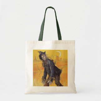 Vintage Fairy Tale, the Wizard of Oz Scarecrow Budget Tote Bag