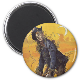 Vintage Fairy Tale, the Wizard of Oz Scarecrow 6 Cm Round Magnet