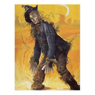 Vintage Fairy Tale, the Wizard of Oz Scarecrow Postcard
