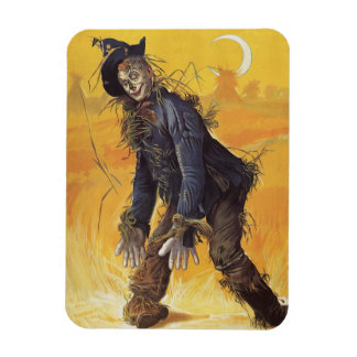Vintage Fairy Tale, the Wizard of Oz Scarecrow Rectangle Magnet