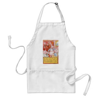 Vintage Fairy Tale Three Little Pigs and the Wolf Standard Apron