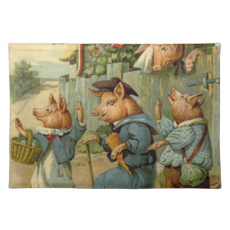 Vintage Fairy Tale, Three Little Pigs Place Mat