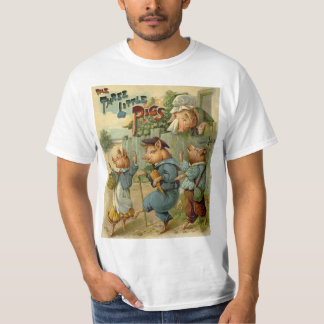 Vintage Fairy Tale, Three Little Pigs T-Shirt