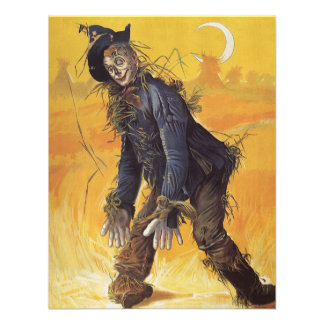 Vintage Fairy Tale, Wizard of Oz Scarecrow Announcements