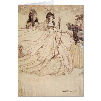 Vintage Fairy Tales, Cinderella by Arthur Rackham Greeting Card
