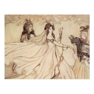 Vintage Fairy Tales, Cinderella by Arthur Rackham Postcard