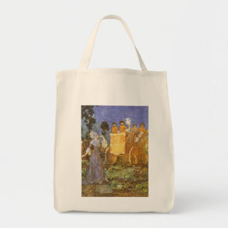 Vintage Fairy Tales, Cinderella, Fairy Godmother Grocery Tote Bag