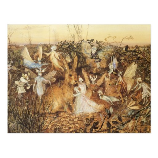 Vintage Fairy Tales, Rabbit Among the Fairies Post Card