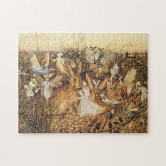 Vintage Fairy Tales, Rabbit Among the Fairies Puzzle