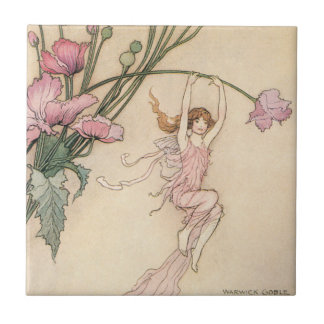 Vintage Fairy Tales, Three Spirits Filled With Joy Tile