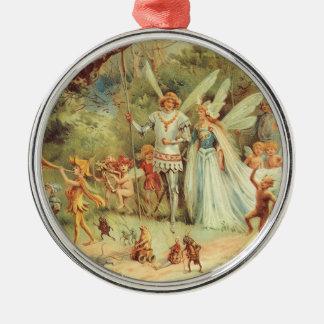 Vintage Fairy Tales, Thumbelina and Prince Wedding Christmas Ornament