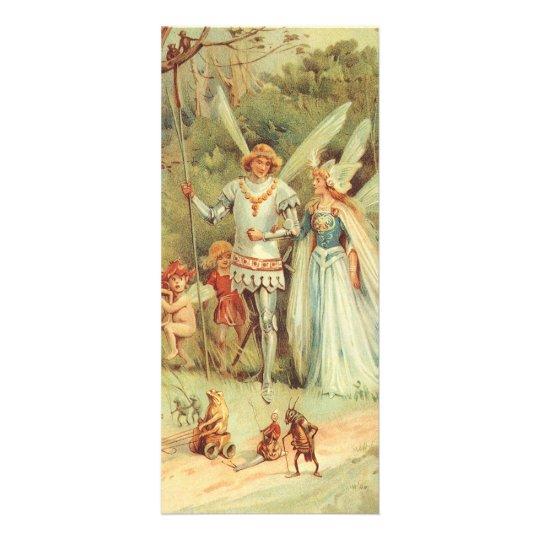 Vintage Fairy Tales, Thumbelina and Prince Wedding Rack Card