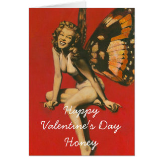 Vintage Fairy Valentines Day Card