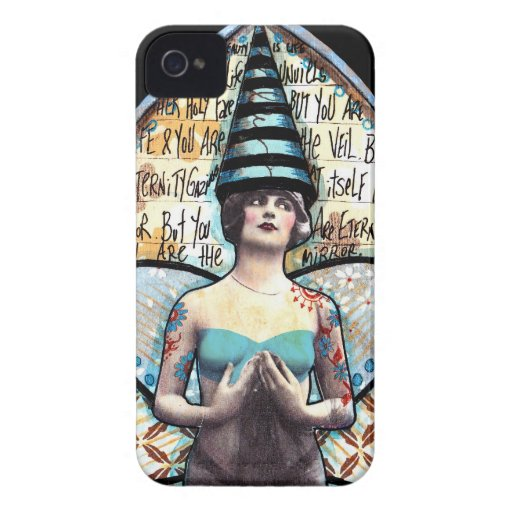 Vintage Fairy with Super Tall Crown iPhone 4 Case-Mate Cases