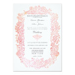 "Vintage Fairytale Birds Border Wedding Invitation 5"" X 7"" Invitation Card"