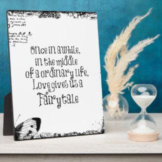 Vintage Fairytale Love Quote Plaque
