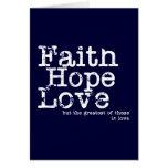 Vintage Faith Hope Love Card