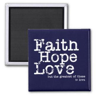 Vintage Faith Hope Love Magnet