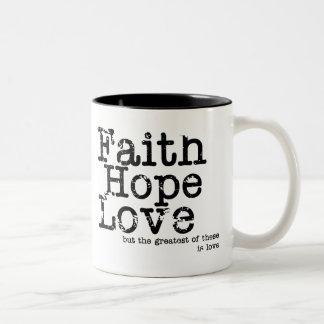 Vintage Faith Hope Love Mug