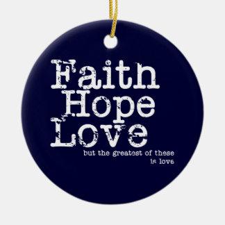 Vintage Faith Hope Love Ornament