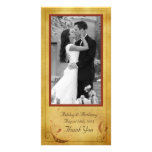 Vintage Fall Country Rustic Floral Wedding Photo Cards