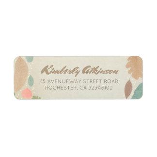 Vintage Fall Leaves Gold Dots Wedding Return Address Label