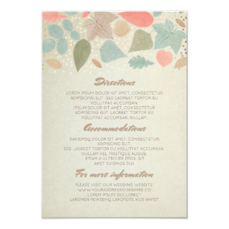 Vintage Fall Leaves Wedding Details- Information 9 Cm X 13 Cm Invitation Card