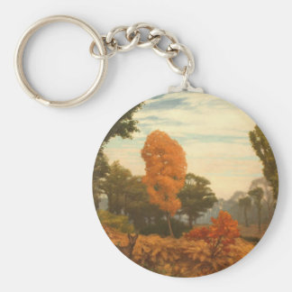 Vintage Fall Painting Keychain