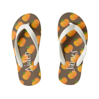 Vintage Fall Pumpkin Sandals