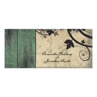 Vintage Fall Wedding Church Program - Barn Board Customised Rack Card