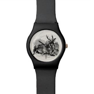Vintage Fallow Deer Buck Personalized Illustration Watch