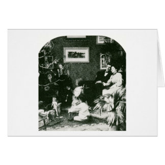 Vintage Family Christmas - Stereoview Greeting Card