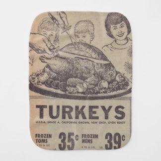 Vintage Family Dinner Baby Burp Cloth