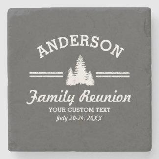 Vintage Family Reunion or Trip | Rustic Pine Trees Stone Coaster