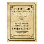 Vintage Family Reunion Party Event Save the Date