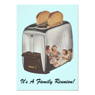 Vintage Family Reunion Toaster Reflect Invitation