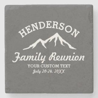 Vintage Family Reunion Trip Cool Mountain Peaks Stone Coaster