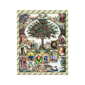 Vintage Family Tree Gallery Wrap Canvas