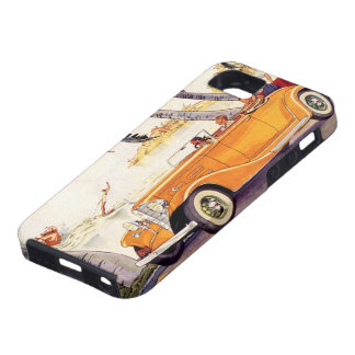 Vintage Family Vacation in a Convertible Car iPhone 5 Cases
