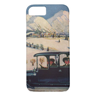 Vintage Family Vacation in Antique Automobile Car iPhone 7 Case